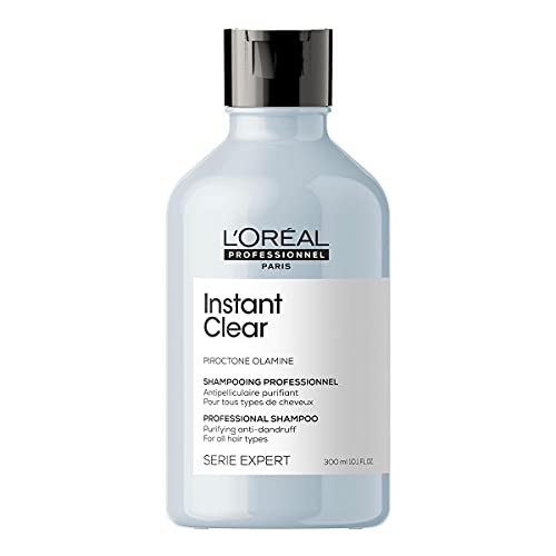 L'Oréal Professionnel   Champú Tratamiento Anticaspa para todo tipo de cabello, Instant Clear, SERIE EXPERT, 300 ml