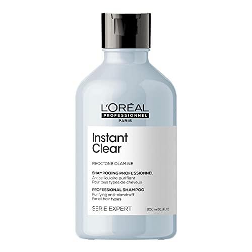 L'Oréal Professionnel | Champú Tratamiento Anticaspa para todo tipo de cabello, Instant Clear, SERIE EXPERT, 300 ml