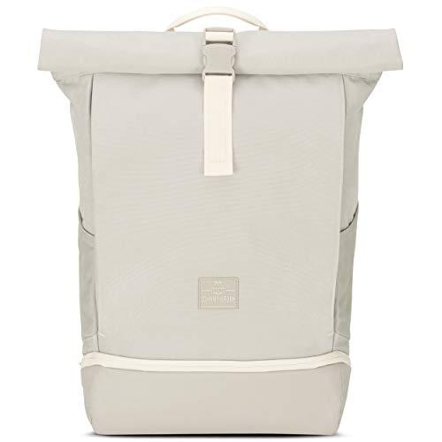 Johnny Urban Rolltop Rucksack Damen & Herren Sand ALLEN, Roll Top Backpack für Schule, Uni, Arbeit, Laptop Fach 15,6 Zoll, Wasserabweisend