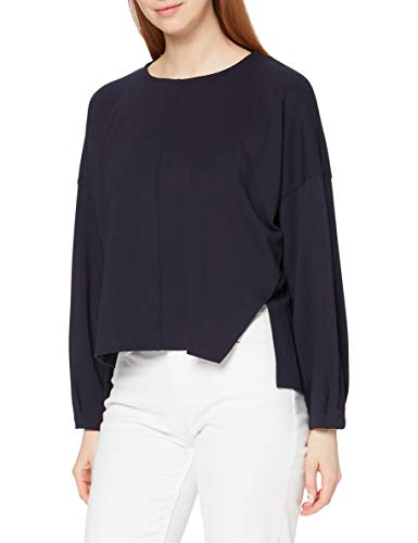 French Connection Suzie Beau Jersey Puff Slv Top Pullover, Blu Utility, L Donna