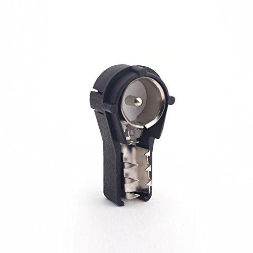 KKmoon Conector Estéreo de Antena Radio ISO Macho Crimp Conector de Coche Convierte Cables Desnudos