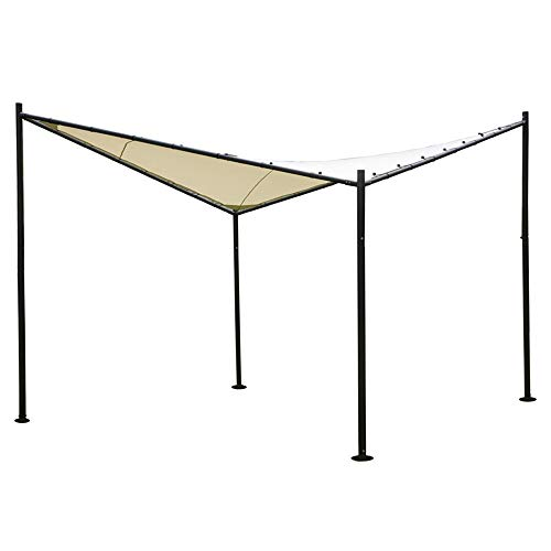 Abba Patio 12x12ft Outdoor Patio Gazebo Canopy, Waterproof Soft-Top Butterfly Steel Garden Pergola Gazebo, for Grill, BBQ, Deck, Beach, Porch, Backyard, or Sunshade, Beige