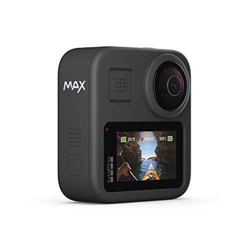 316BmEH3qOL. SL500  - GoPro MAX — Waterproof 360 + Traditional Camera with Touch Screen Spherical 5.6K30 HD Video 16.6MP 360 Photos 1080p Live Streaming Stabilization