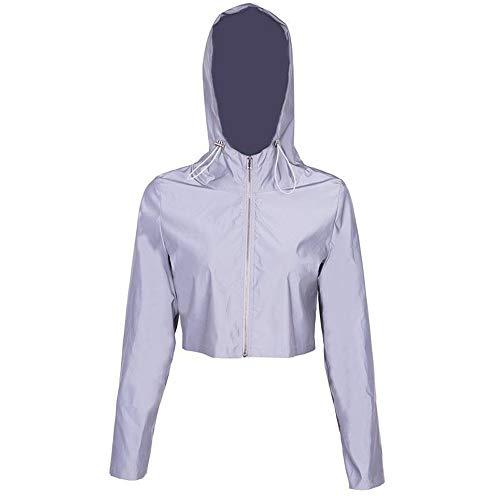 KANGJIABAOBAO Reflecterende vesten Reflecterende Dames Hoodie Reflecterende Sweatshirt Met Slank type voor Vrouwen Wandelen Fietsen Voor Vrouwen