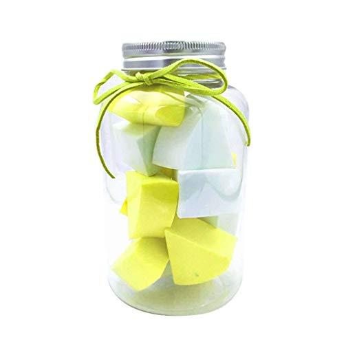 éponge De Maquillage 12pièces,cosmétique Mixeur Secteur En Conserve Humide Et Sec Pour Concealer BB Crème Poudre Pressée Et Beaucoup Plus-jaune+blanc