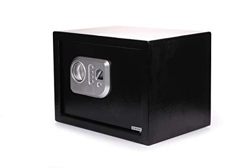 Univision - Caja fuerte con cerradura de combinación eléctrica con huella dactilar (perno doble de acero, caja fuerte para muebles, caja fuerte de pared)