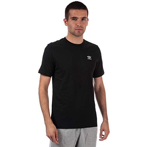 Mens adidas Originals Essential Logo T-Shirt in Black