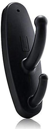 Mini Spy Coat Hook Hidden Camera Motion Detection Clothes Hook Cam Covert Recorder Home Security Nanny Cam Black
