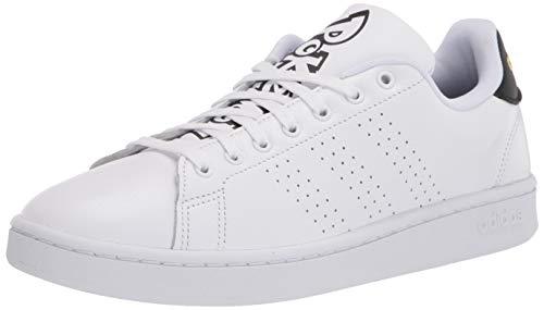 adidas Zapatillas Cloudfoam Advantage Clean para Hombre, Blanco, Blanco y Negro, 42 EU