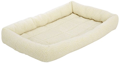 AmazonBasics Padded Pet Bolster Bed, 29 x 19 inches