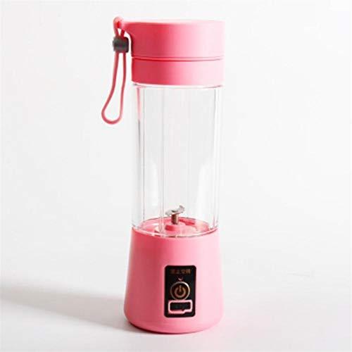 ZHANGNING Juicer Tamaño portátil USB Fruta eléctrica Juicer Handheld Maker Maker Blender Right Recargable Mini Portátil Jugo Taza Agua Juicer centrífugo (Color : Pink)
