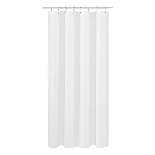 Wohnmobil-Duschvorhang aus Stoff, 119,4 x 162,6 cm, Hotelqualität, waschbar, wasserabweisend, weiße Badezimmer-Gardinen mit Ösen, 119,4 x 162,6 cm