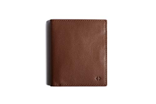 Leather Bifold Wallet with RFID Protection (Deep Brown)