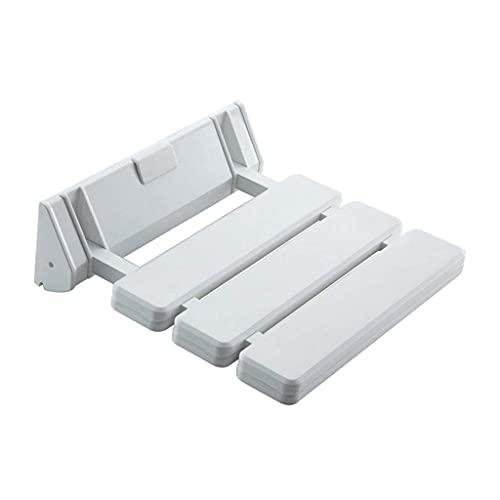 WXDP Autopropulsado Brilliant Firm - Taburete de baño Plegable, Blanco, para baño Antiguo, Especial para baño, Silla Plegable, Color Blanco