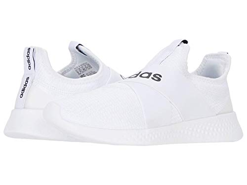 adidas womens Puremotion Adapt Running Shoe, White/Black/Dove Grey, 7.5 US