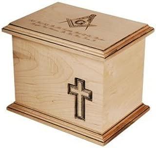 SSI Woodwork Masonic Funeral Urn - WMF/MAS