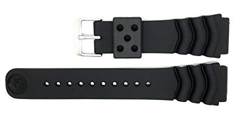 Original Seiko Z22 22mm Repuesto Negro Correa Reloj Buzo ZTA05J (4FY8JZ Alternativa) para Seiko Divers Watches