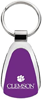 LXG Clemson University - Teardrop Keychain - Purple