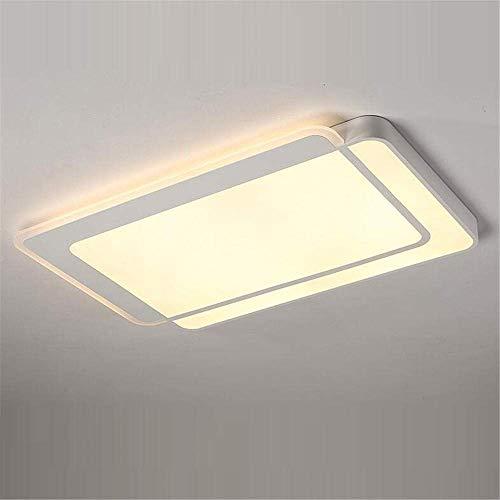 Lámpara de techo LED, acrílico, moderna lámpara de techo LED, acogedora, salón, dormitorio, estudio, iluminación tricolor, 112 W, 110 x 75 cm