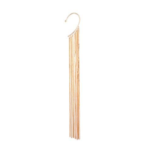 Palm kloset Pendientes Pendientes Largos de Borla Material de la aleación exageración de la Personalidad Vestido for Banquete Gancho de Oreja Estilo Europeo y Americano Joyería Simple for Mujer