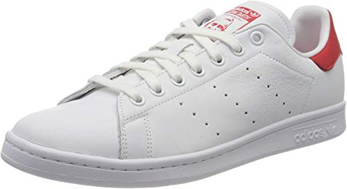 adidas Stan Smith, Scarpe Uomo, Bianco (Cloud White/Cloud White/Lush Red), 43 1/3 EU