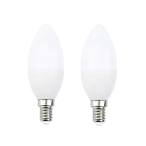 Bonlux E14 Bluetooth Lampe Dimmbar Smart Birne 5W 350lm Bettlampe AC 220V 2700K-6500K Leuchtmittel Steuerbar via Mesh Lamp App für Haus Dekoration Bar Party KTV Bühne (2 Stück)