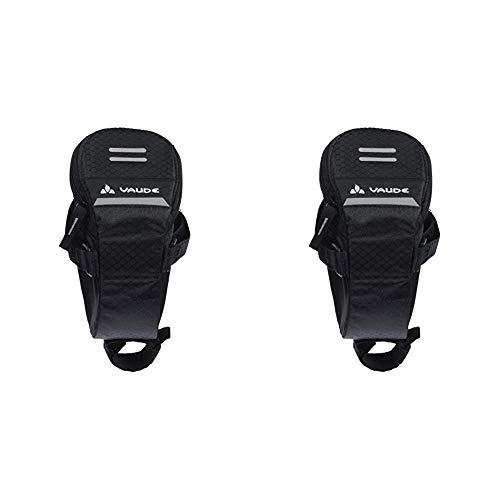 VAUDE Unisex Satteltasche Race Light, Black,10 x 9 x 16 cm, 0,6 liters, 11800 & Unisex Satteltasche Race Light, schwarz, 8 x 8 x 15 cm, 0,4 liters