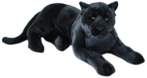 WWF Schwarzer Panther 81cm Plüschtier Stofftier Kuscheltier Block und Stift