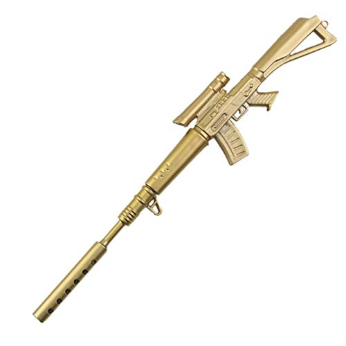 PiniceCore 1 PC Spaß Kawaii Pens Canetas Kugelschreiber Schulbedarf Papelaria Kreative Gold-Gewehr-Form-Briefpapier-Material Escolar