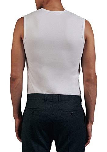 Seidensticker Herren Tank Top T-Shirt Rundhals Ärmellos Uni Unterhemd, Weiß (Weiß 1), Large