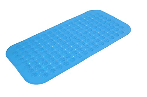 Univarcブランド 吸盤付き 浴槽用 すべり止めマット バスマット ブルー 吸盤 浴槽用 滑り止めマット 転倒防止 青 U00097