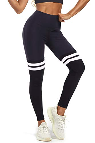 3W GRT Leggins Sportivi Donna, Leggings Donna,Sportivi Leggings,Maglia Eleganti Leggings Sport,Allenamento Opaco Yoga Fitness,Palestra Pantaloni Leggings Push Up,Abbigliamento Donna (Nero, M)