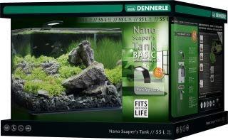 Dennerle Nano Scapers Tank Basic Mini Aquarium mit Panoramascheibe 55 l