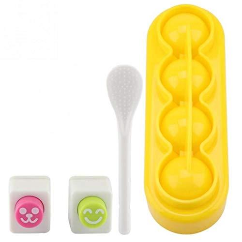 Petite Forme De Boule Japon Nigiri Sushi Moule Boule De Riz Artisanat DIY Riz Rouleau Bento Bento Moule Accessoires avec Une Cuillère