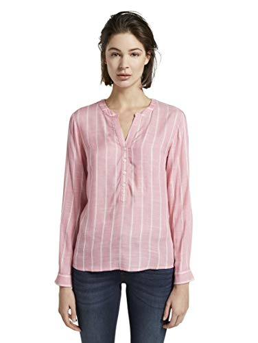 TOM TAILOR Damen Blusen, Shirts & Hemden Strukturierte Bluse pink Vertical Striped,46,21398,5455