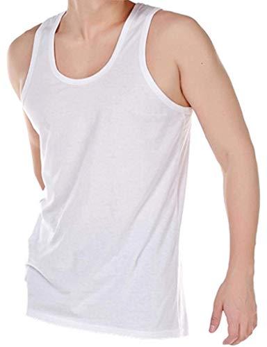 HDUK TM Mens Underwear - Pack de 10 Vestes sous-vêtement hommes 100% coton - Blanc, XL 112-117cm
