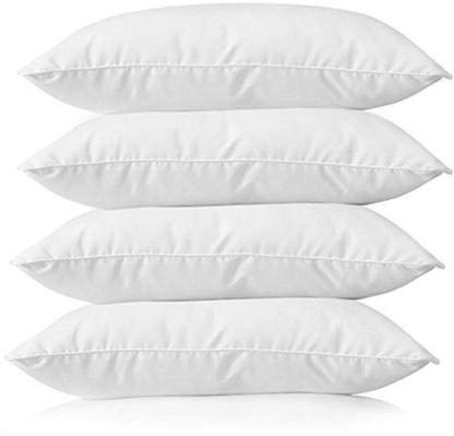 Fabroyal India 5 Star Hotel Cotton Pillow Filler with Fibre for Well Night's Sleep in White Colour for Home & Hotel (Pack of 4 Pillow)