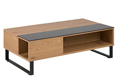 AC Design Furniture Couchtisch Nikolaj, B: 110 x T:60 x H: 35 cm, MDF, Braun