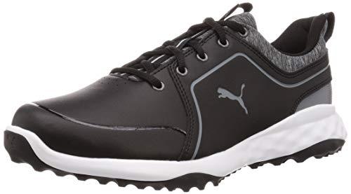 PUMA Herren Grip Fusion 2.0 Golfschuh, Black-Quiet Shade, 40.5 EU