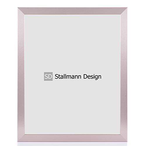 Stallmann Design Bilderrahmen New Modern 50x70 Puzzleformat cm rosa Pastell metallic Rahmen Fuer Dina 4 und 60 andere Formate Fotorahmen Wechselrahmen aus Holz MDF mehrere Farben wählbar