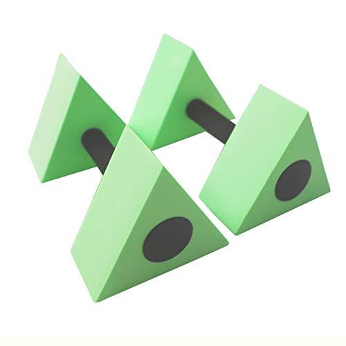 xueren Mancuerna, 2 piezas EVA triángulo flotador de agua, mancuernas de natación para niños, entrenamiento para piscina, ejercicio acuático