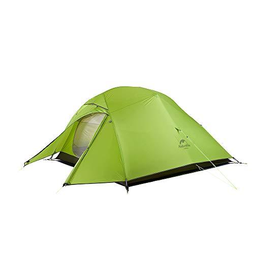 Naturehike Cloud-up Tente Ultra légère Randonnée 3 Personnes Double Couche Tente 4 Saison Camping...