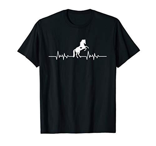 Pferd Herzschlag - Reiten Outfit Pferderennen Geschenk T-Shirt