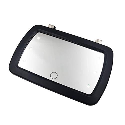 Heaviesk Espejo de Visera para automóvil Espejo de vanidad Plegable de Maquillaje Universal Espejo cosmético con Clip para sombrear el Sol para Espejo retrovisor de camioneta de automóvil