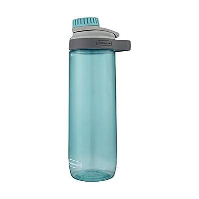 Rubbermaid Leak-Proof Chug Water Bottle, 24 oz, Aqua Waters