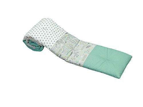 Tour de lit ULLENBOOM convient pour berceau cododo | garde tête bébé hypoallergénique | Safari Menthe Poivrée