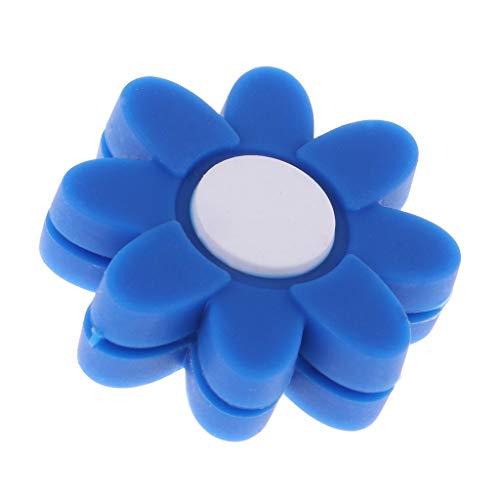P Prettyia - Racchette da Tennis a Forma di Fiore, ammortizzanti per Racchette da Badminton, Blue