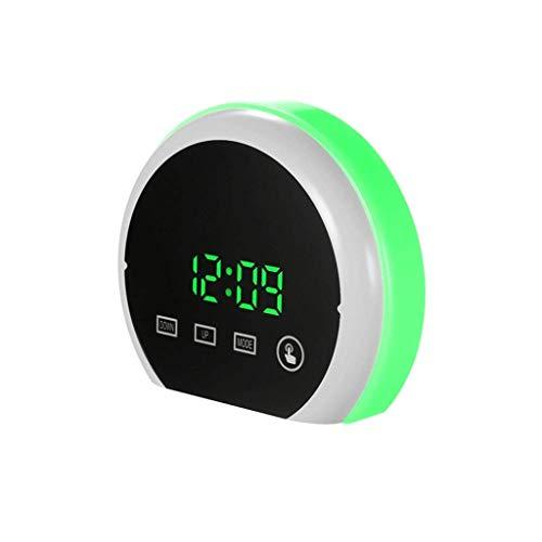 RTYUU thermometer klok spiegel nachtkastje Beauty Mirror wekker Snooze Clock elektronisch