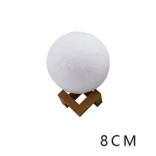 YLSMN 3D Mondlicht Mondlicht Kleines Geschenk Kreatives Geburtstagsgeschenk LED Nachtlicht Ständer stillen led nachtlicht