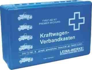 Kfz Verbandkasten BLAU DIN 13164 - für PKW, LKW uvm 10001